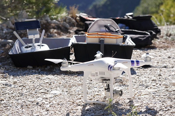 Fully equipped camera drone